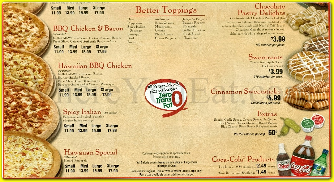 Papa John S Restaurant In Brooklyn Official Menus Photos