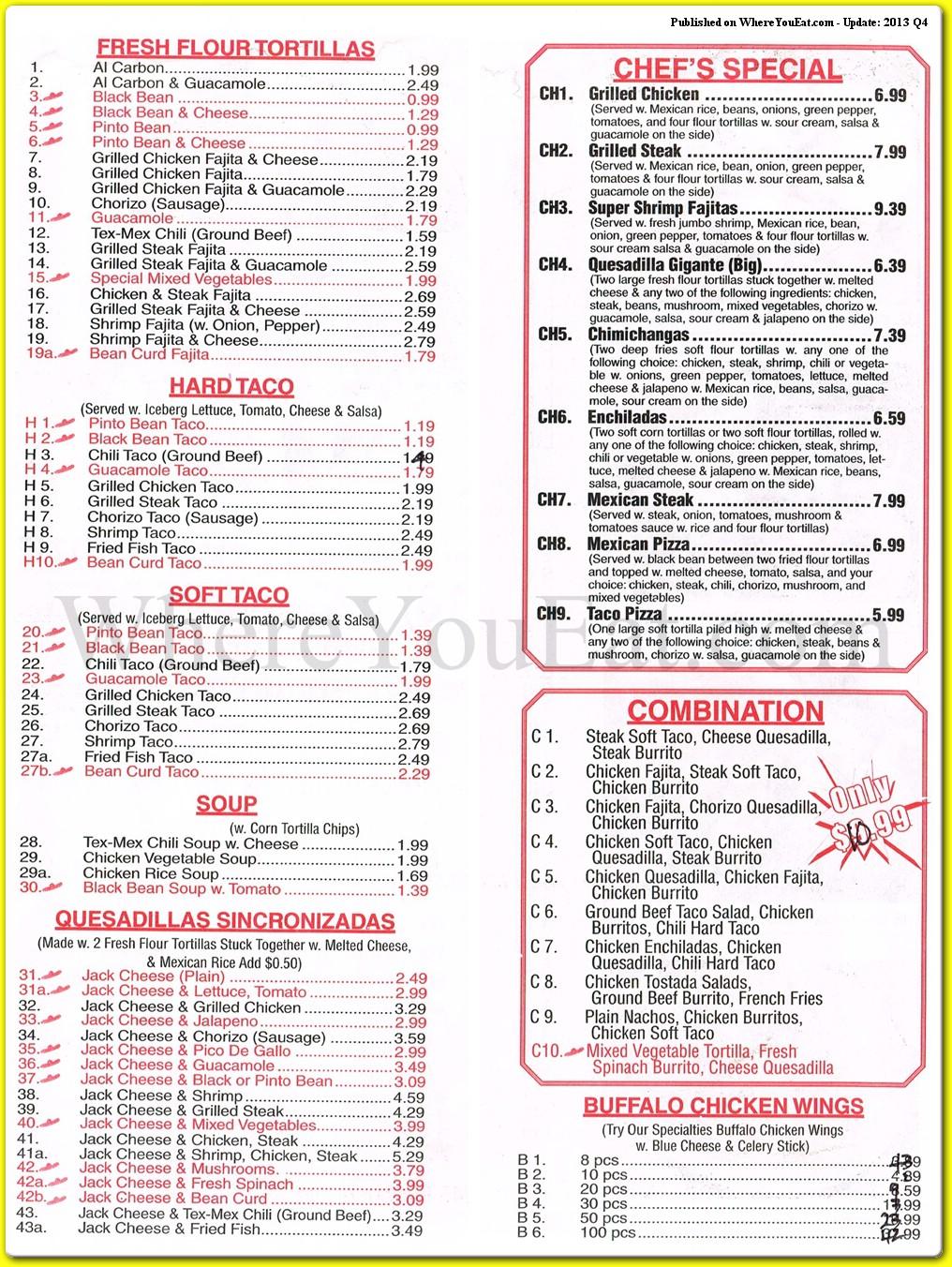 Yummy Taco Restaurant in Brooklyn / Official Menus & Photos