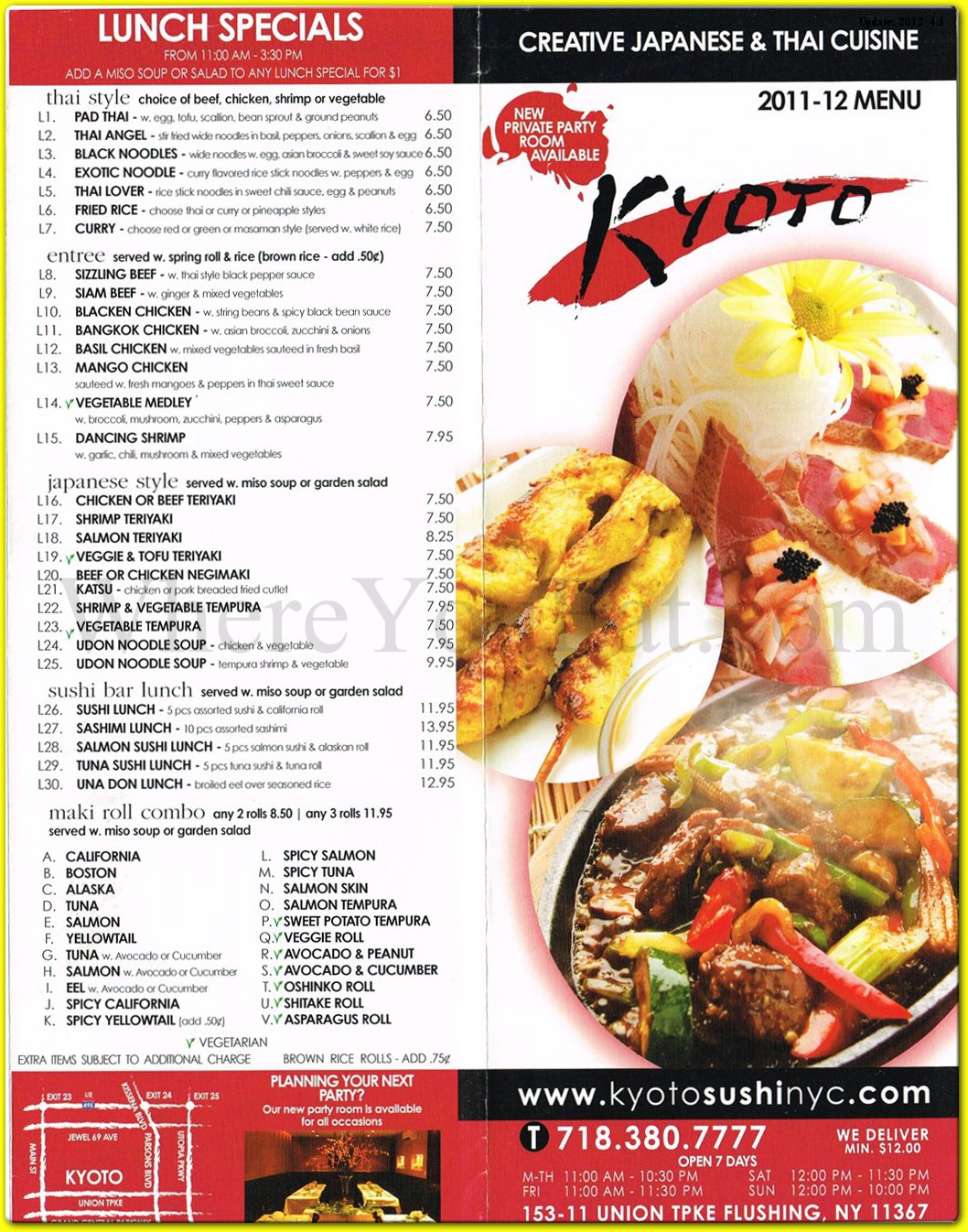 Kyoto Restaurant In Queens Official Menus Photos