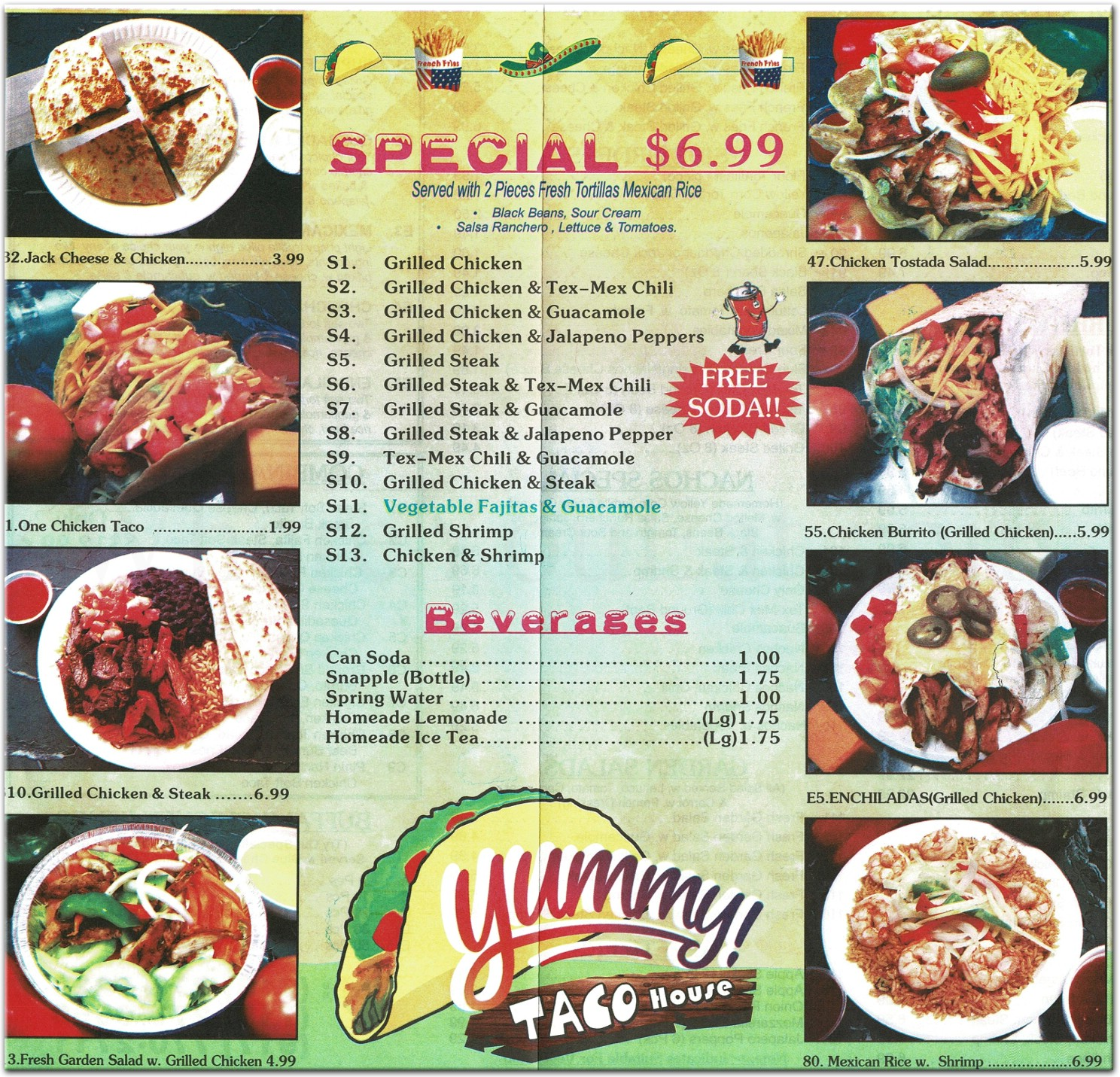 Yummy Taco House Restaurant in Staten Island / Official Menus & Photos